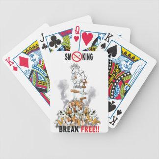 Der freie Bruch - stoppen Sie zu rauchen Bicycle Spielkarten