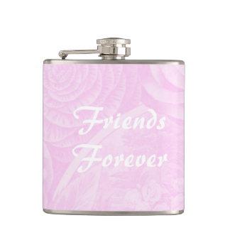 Der Freunde Geschenkgetränk-Flaschenrosa für immer Flachmann