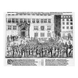 Der Frieden von Nürnberg, am 25. September 1649 Postkarte