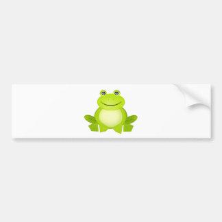 Der friedliche Frosch Autoaufkleber