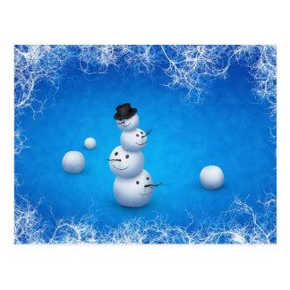 Der fröhliche Schneemann Postkarte