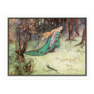 Der Frosch-Prinz durch Warwick Goble Postkarte