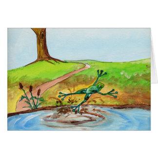 Der Frosch springend durch den Schlamm Karte