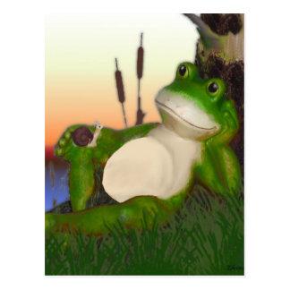 Der Frosch und die Schnecke Postkarte