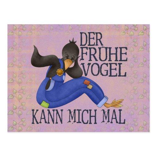 Der Frühe Vogel Postkarte