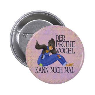 Der Frühe Vogel Runder Button 5,1 Cm