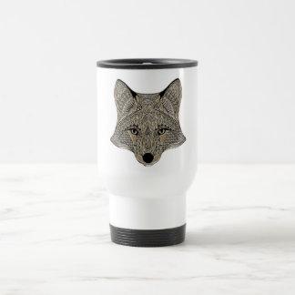 Der Fuchs-Kunstsammlung Fox metallische weiße Reisebecher