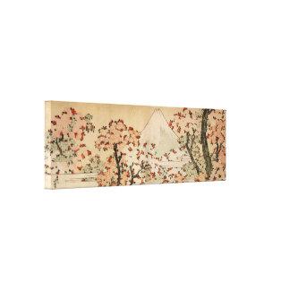 Der Fujisan hinter Kirschbäumen, Blumen durch Hoku Leinwanddruck