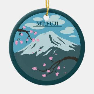 Der Fujisan Rundes Keramik Ornament