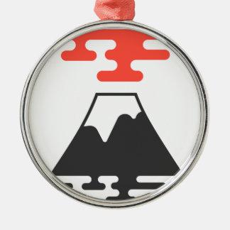Der Fujisan Rundes Silberfarbenes Ornament