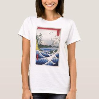 Der Fujisan sah vom Wasser circa 1800's an T-Shirt