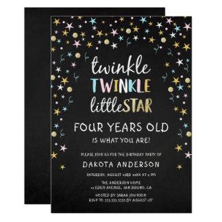 Der Funkeln-kleine Stern 4 Jahre alt ist, was Sie Karte