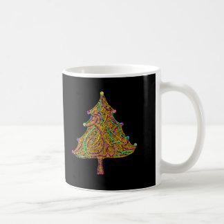 Der funkelnde Weihnachtsbaum Kaffeetasse