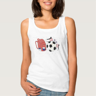 Der Fußball der Frauen Tank Top
