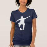 Der Fußball-Logo der Frauen (weiß auf Blau) T Shirts