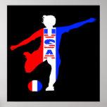 Der Fußball-Logo-Plakat USA-Frauen