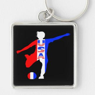 Der Fußball-Logo USA-Frauen Schlüsselanhänger