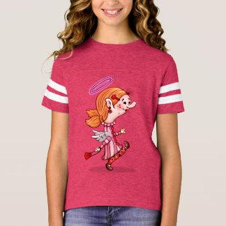 Der Fußball-Shirt 10 LULU-ENGELS-CARTOON Mädchen T-Shirt
