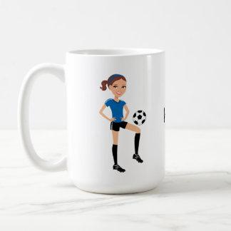 Der Fußball-Spieler des Mädchens personalisiert Tasse