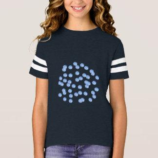 Der Fußball-T - Shirt der blauen