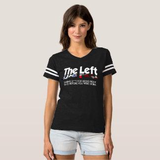 Der Fußball-T - Shirt der Frauen - das links,