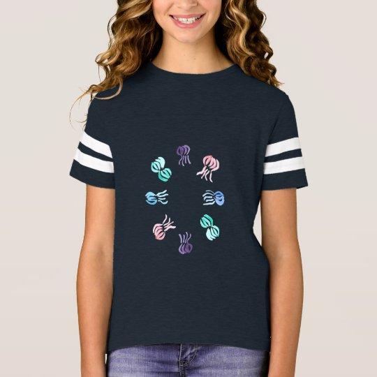 Der Fußball-T - Shirt der Quallen-Mädchen