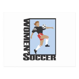 Der Fußball-T-Shirts und Geschenke der Frauen Postkarte