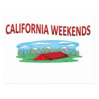 Der Gang Kalifornien-Wochenendes Postkarte