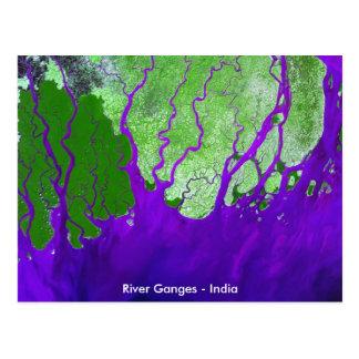 Der Ganges-Deltasatellitenbild - Indien Postkarte