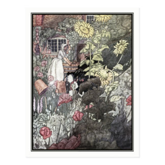 Der Garten des armen Mannes durch Charles Robinson Postkarte