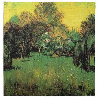 Der Garten des Dichters durch Vincent van Gogh. Serviette