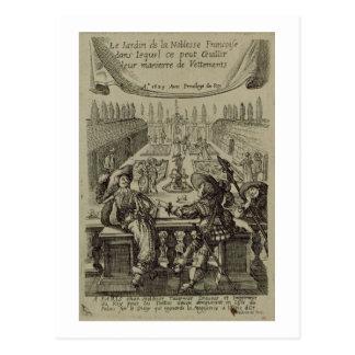 Der Garten des französischen Adels, c.1640 Postkarte