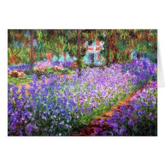 Der Garten des Künstlers bei Giverny, Claude Monet Karte