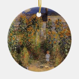 Der Garten des Künstlers bei Vetheuil durch Claude Keramik Ornament