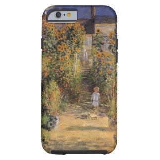 Der Garten des Künstlers bei Vetheuil durch Claude Tough iPhone 6 Hülle