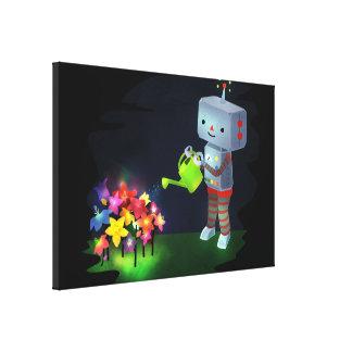 Der Garten des Roboters Leinwanddruck