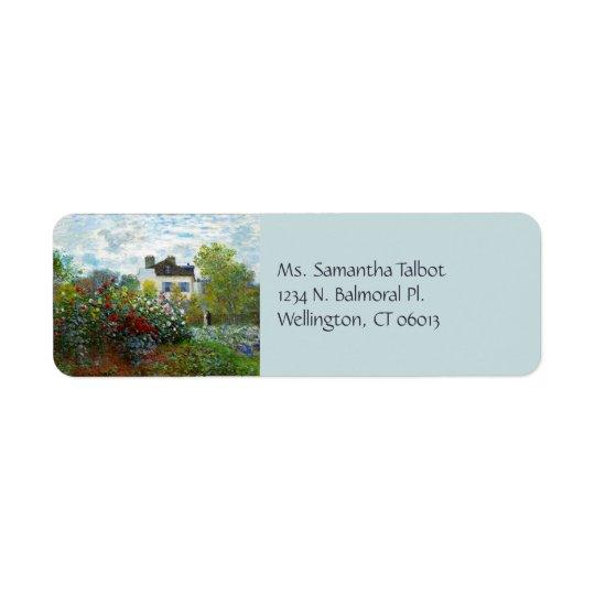 Der Garten-Rücksendeadressen-Aufkleber eines