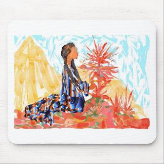 Der gebende Baum ein Ureinwohner-Mädchen-Beten Mousepad