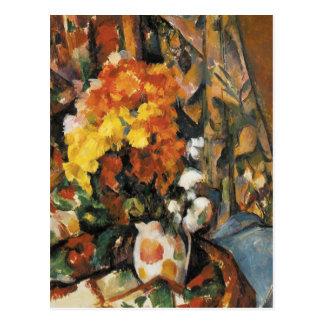 Der geblühte Vase durch Paul Cezanne Postkarte
