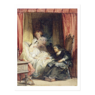 Der Gebrauch der Risse, 1827 (w/c und bodycolour Postkarte