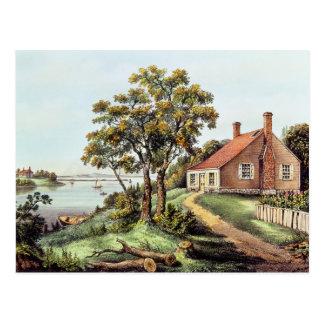 Der Geburtsort von Washington am Postkarte