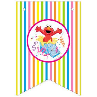 Der Geburtstag des Mädchens des Sesame Street-| Wimpelketten