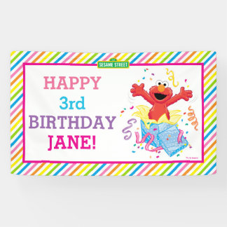 Der Geburtstag Elmo Mädchens Banner