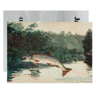 Der Geburtstag Winslow Homer-Fischers Karte