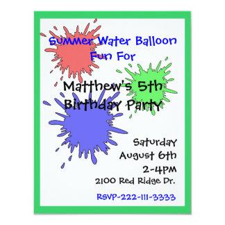 Der Geburtstags-Einladung bunten Splats Jungen 10,8 X 14 Cm Einladungskarte