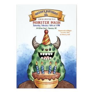 Der Geburtstags-Einladung des Monsters Karte