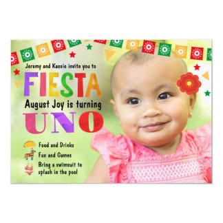 Der Geburtstags-Fiesta-Party Einladung des Babys