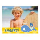 Der Geburtstags-Foto des Blauwal-Kindes danken Postkarte
