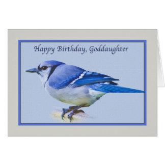 Der Geburtstags-Karte der Patenttochter mit blauem Karte