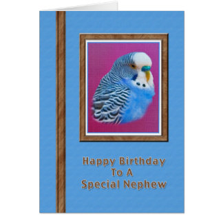 Der Geburtstags-Karte des Neffeen mit blauem Karte